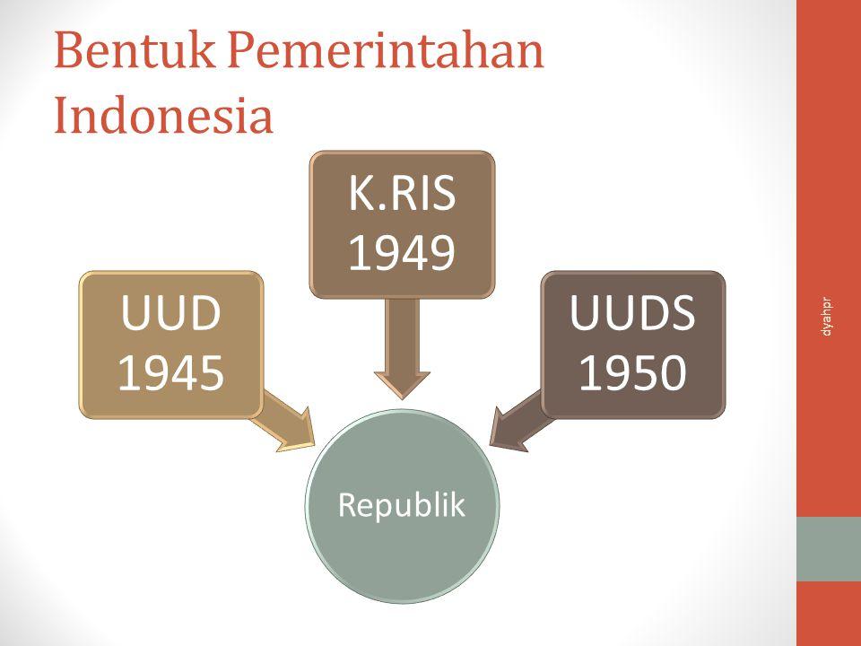 Refrest Mengapa para pendiri negara memilih bentuk negara kesatuan dan bentuk pemerintahan republik.