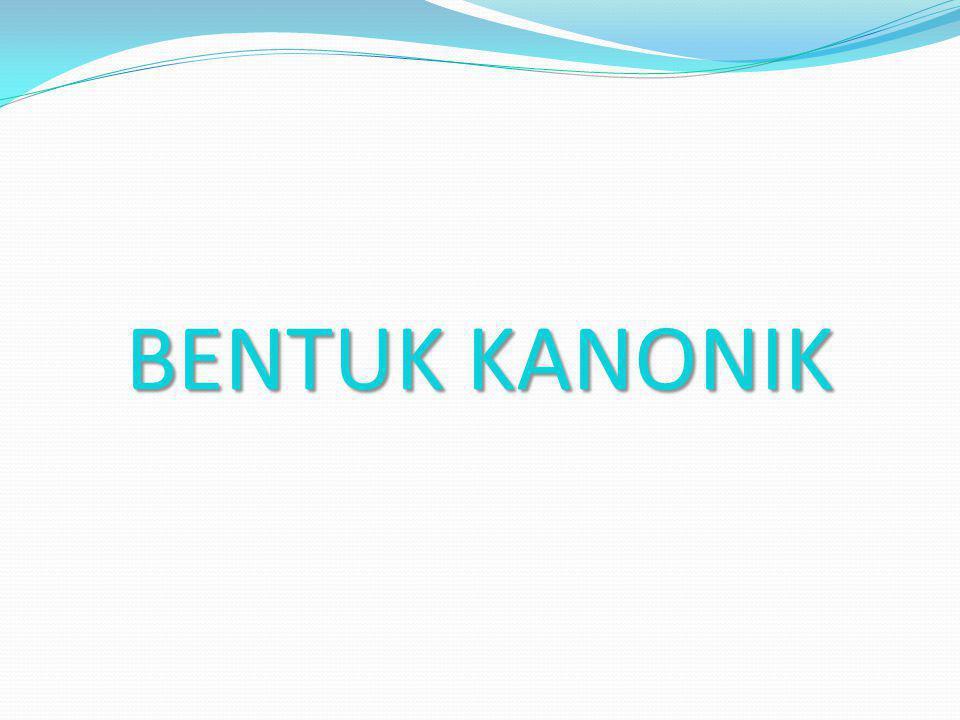 BENTUK KANONIK