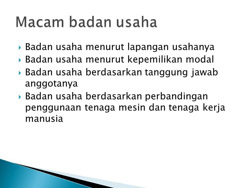  Modal dasar: modal yg disebut dalam akta pendirian  Modal yang ditempatkan: modalyg sanggup dimasukkan  Modal yang disetor: modal yang benar2 telah diserahkan