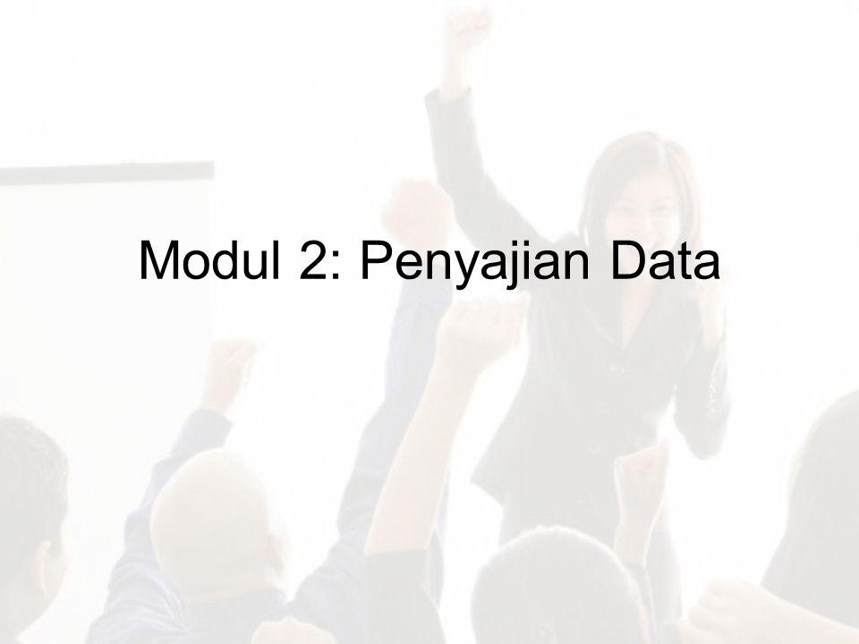Penyajian Data Data penelitian harus disusun dan disajikan dalam bentuk yang mudah dipahami.