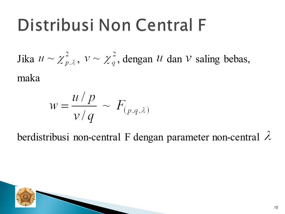 pdf, mean, dan varians distribusi non-central F 19........ 3........ 4