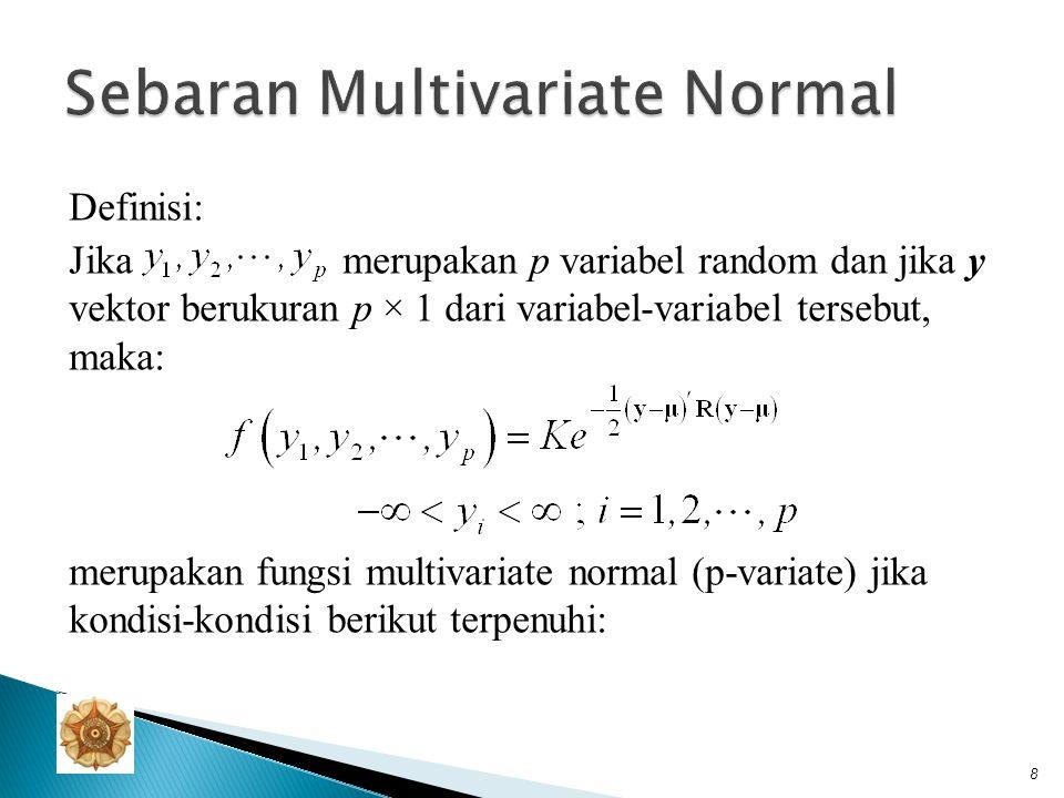 1.R adalah matriks definit positif dengan elemen-elemen r ij merupakan konstanta.