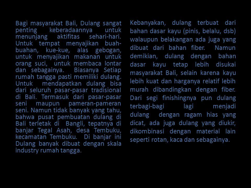 Seni Ukir Kayu Bali Dulang di Tegal Asah