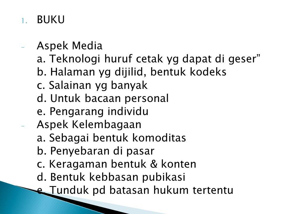 2.SURAT KABAR - Aspek media a. Kemunculannya berkala dan sering b.