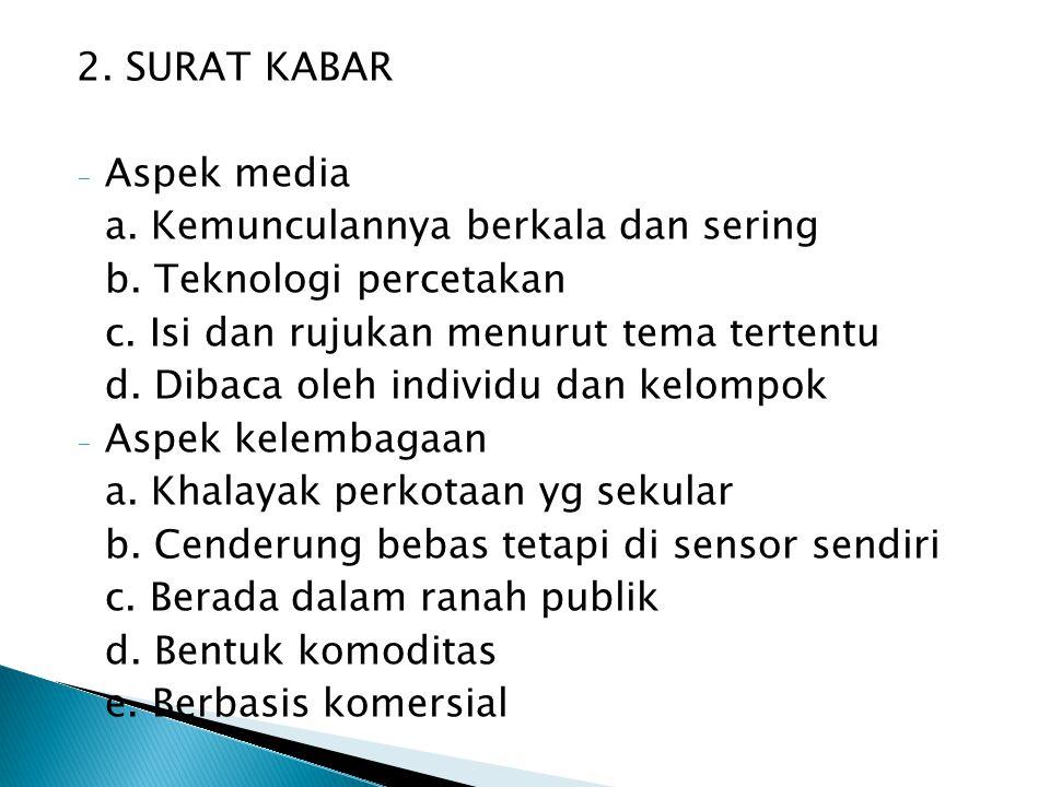 3.MEDIA FILM - Aspek media a. Saluran penerimaan audiovisual b.