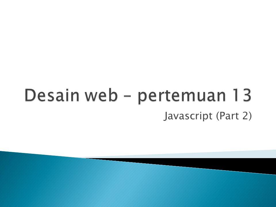 Javascript (Part 2)