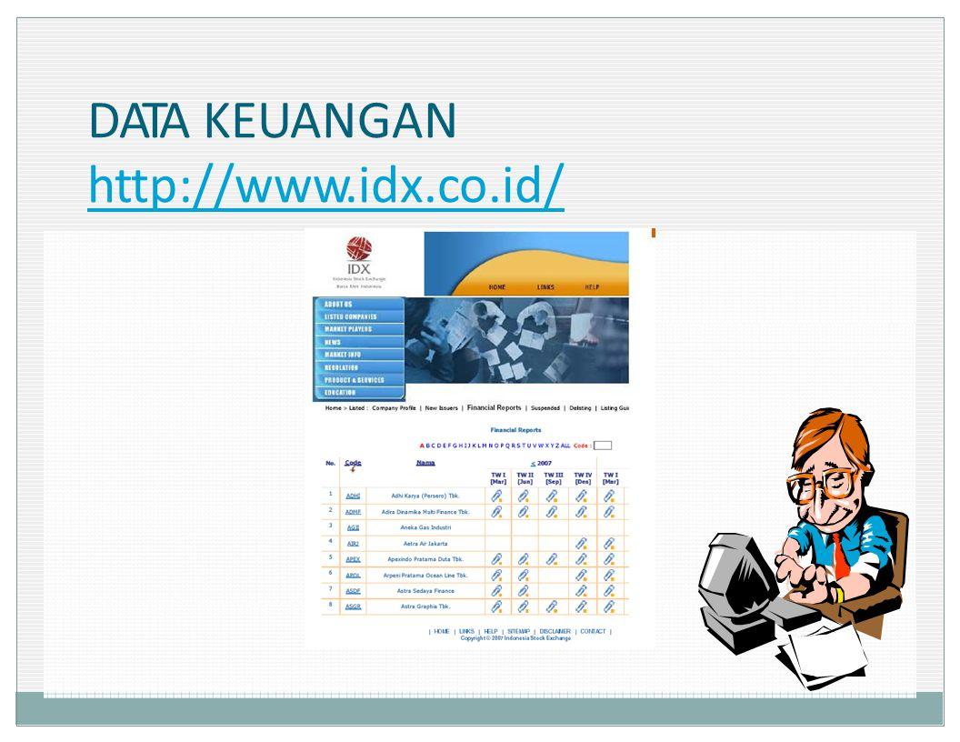 DATA KEUANGAN ht p://www.idx.co.id/