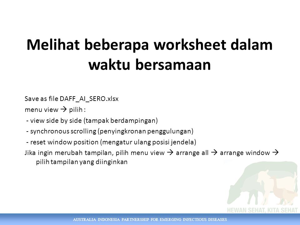 AUSTRALIA INDONESIA PARTNERSHIP FOR EMERGING INFECTIOUS DISEASES Bagaimana caranya.