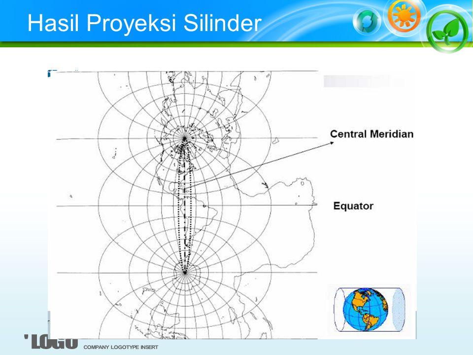 Proyeksi Kerucut Baik untuk mengamati area timur-barat Pengkonversia dilakukan sama seperti pada sili nder hanya saja dikerjakan dengan kerucut.