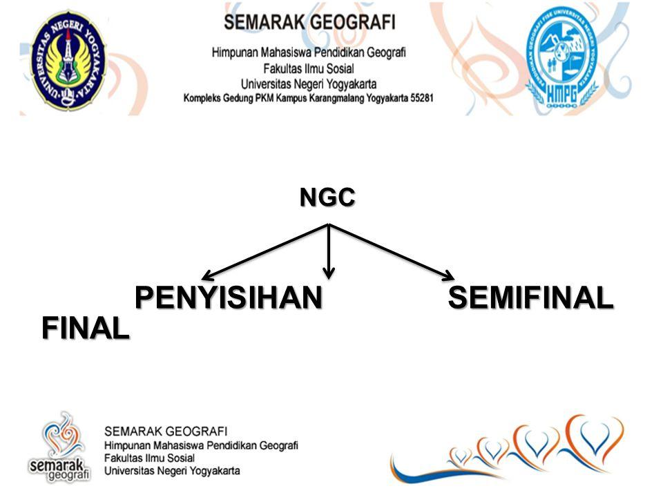 NGC PENYISIHAN SEMIFINAL FINAL PENYISIHAN SEMIFINAL FINAL