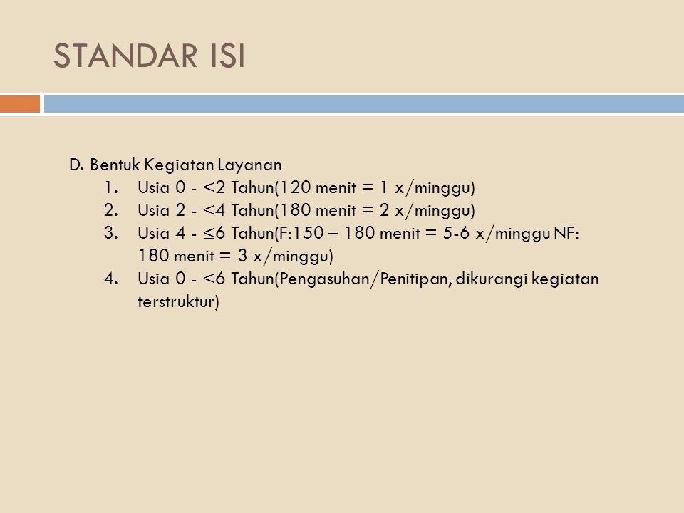 STANDAR ISI E.
