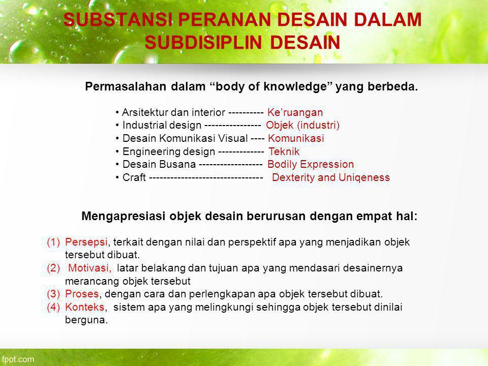 TERMINOLOGI DESAIN Beberapa macam terminologi desain yang berkembang dikehidupan manusia diantaranya : A.