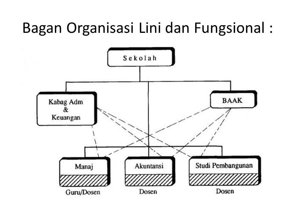 Bagan Organisasi Lini dan Fungsional :