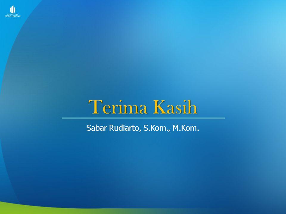 Terima Kasih Sabar Rudiarto, S.Kom., M.Kom.