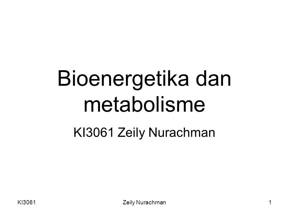 KI3061Zeily Nurachman2 Metabolisme Pengertian : keseluruhan reaksi kimia yang terjadi di dalam organisme keseluruhan set transformasi molekul organik yang dikatalisis enzim di dalam mahluk hidup Jumlah anabolisme dan katabolisme Jalur metabolisme: serangkaian reaksi-rekasi yang dikatalisis enzim dari prekursor (prazat) s.d.