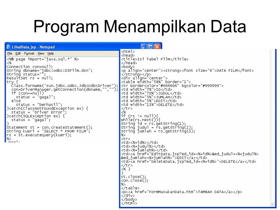 Program Menampilkan Data