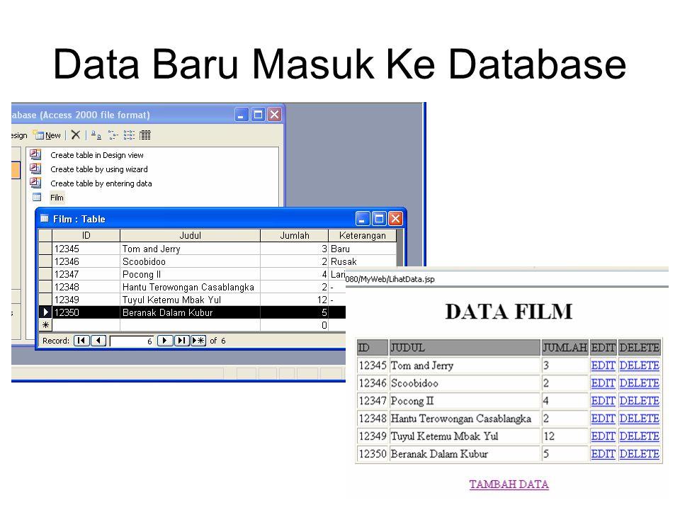 Data Baru Masuk Ke Database