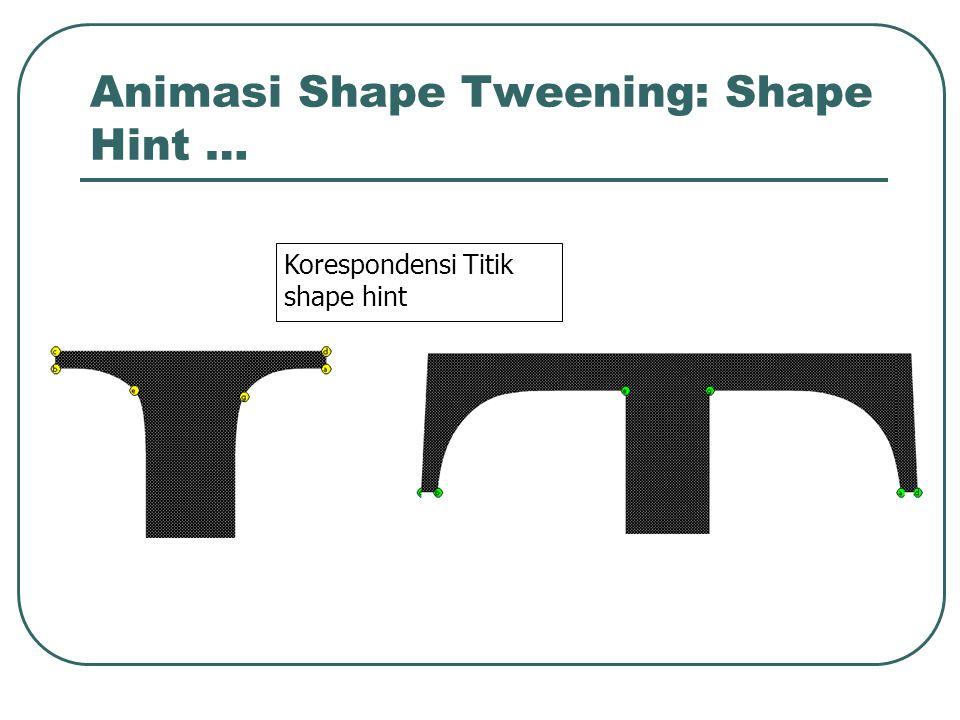 Animasi Shape Tweening: Shape Hint … Korespondensi Titik shape hint
