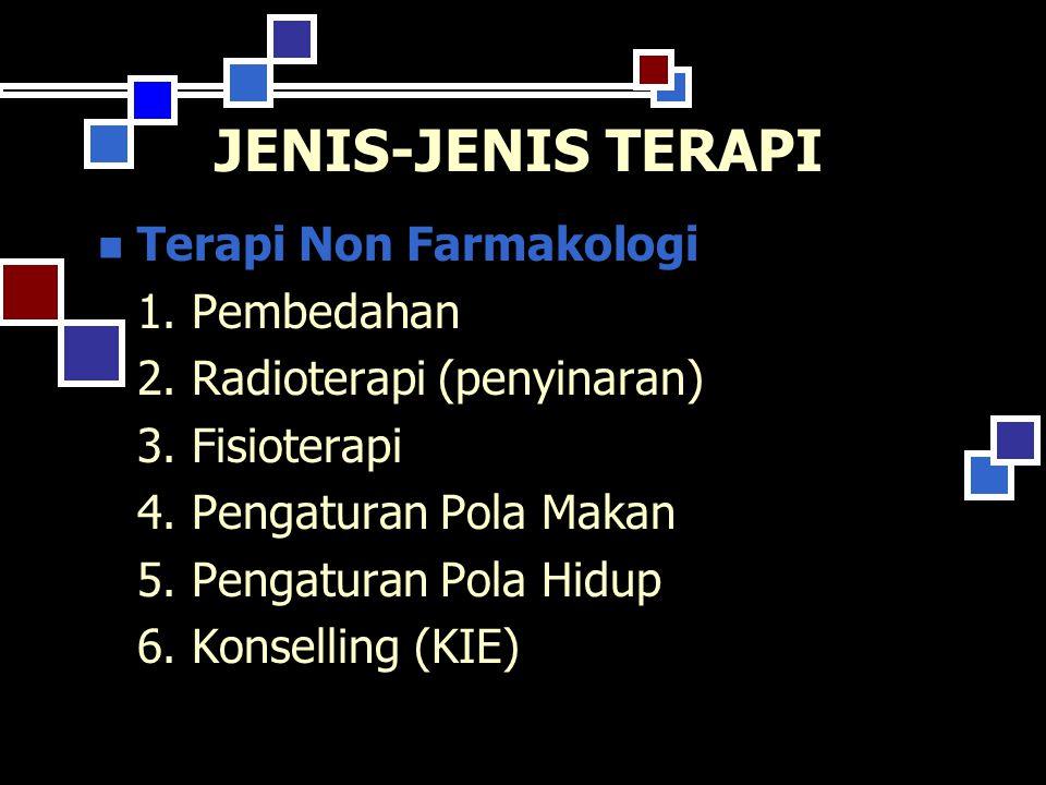 JENIS-JENIS TERAPI Terapi Non Farmakologi 1.Pembedahan 2.