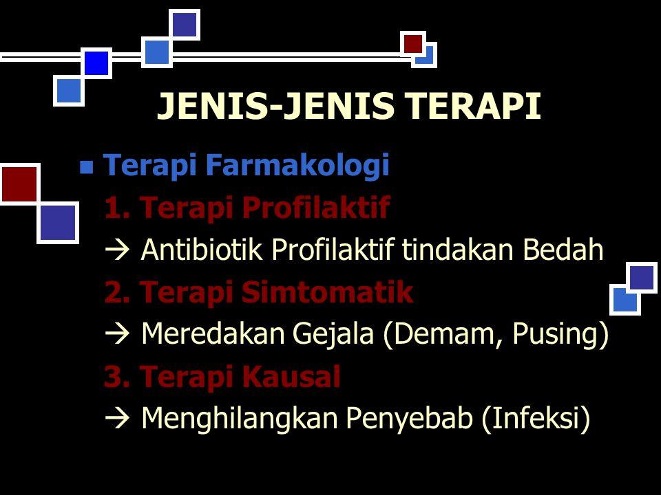 JENIS-JENIS TERAPI Terapi Farmakologi 1.