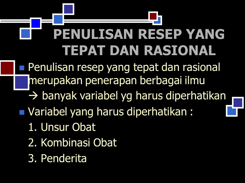MODEL RESEP YANG LENGKAP 7.