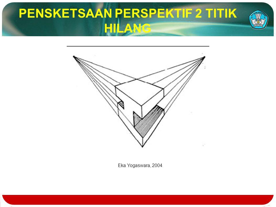 PENSKETSAAN PERSPEKTIF 2 TITIK HILANG Eka Yogaswara, 2004