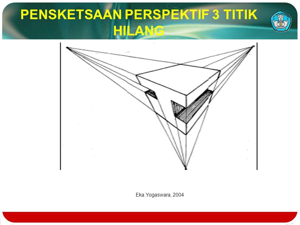 PENSKETSAAN PERSPEKTIF 3 TITIK HILANG Eka Yogaswara, 2004