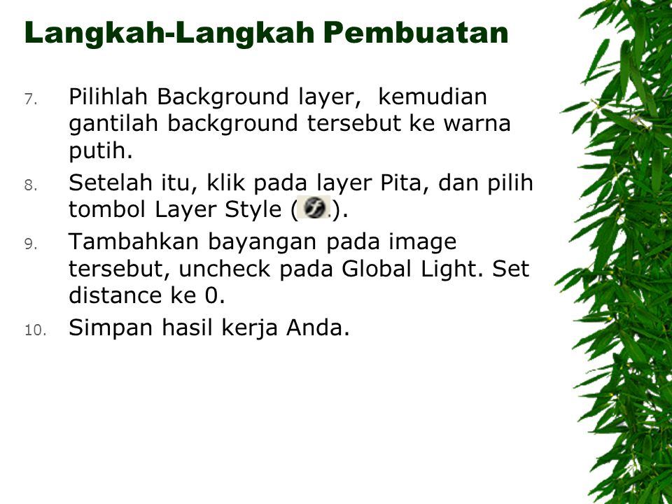 7. Pilihlah Background layer, kemudian gantilah background tersebut ke warna putih.