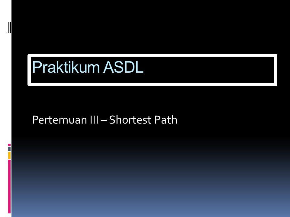 Praktikum ASDL Pertemuan III – Shortest Path