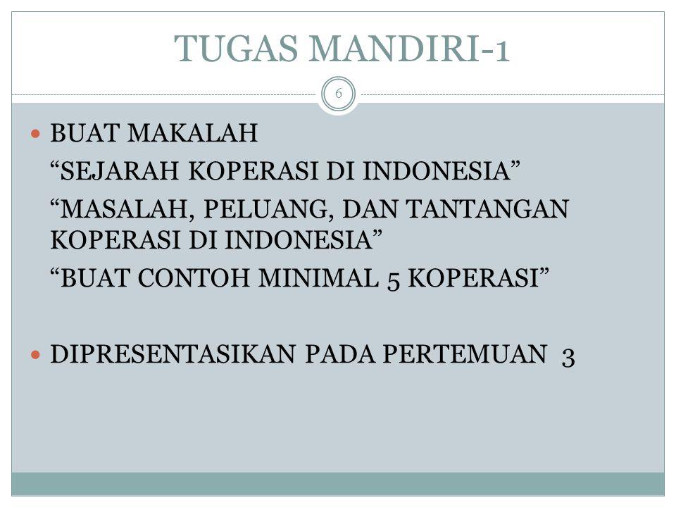 DISKUSI KOPERASI ITU UNIK? Apa bedanya dengan bentuk usaha lain di Indonesia?? 17