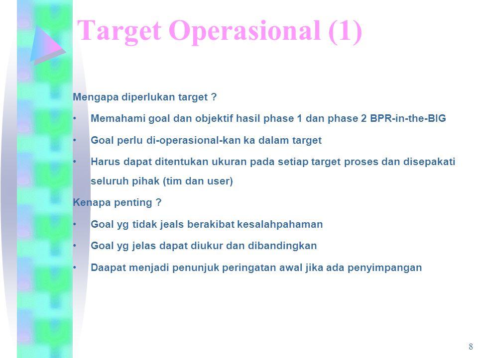 8 Target Operasional (1) Mengapa diperlukan target .