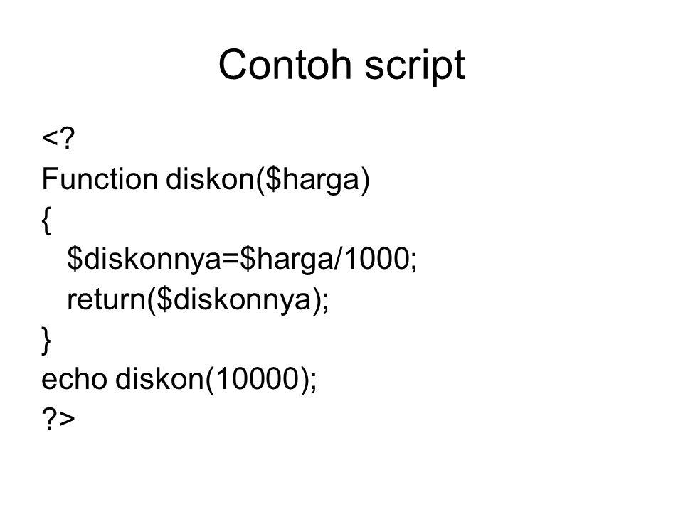 Contoh script <.