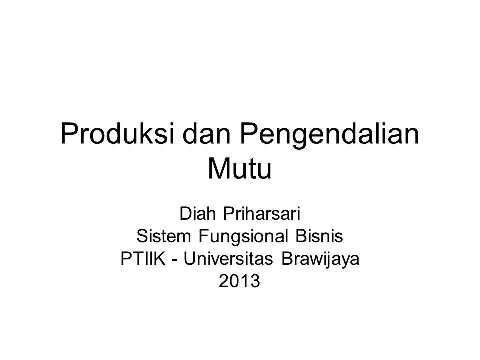 Produksi dan Pengendalian Mutu Diah Priharsari Sistem Fungsional Bisnis PTIIK - Universitas Brawijaya 2013