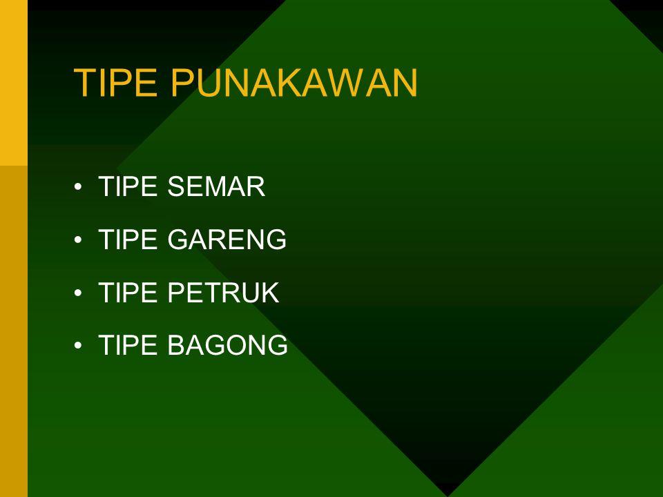 TIPE PUNAKAWAN TIPE SEMAR TIPE GARENG TIPE PETRUK TIPE BAGONG