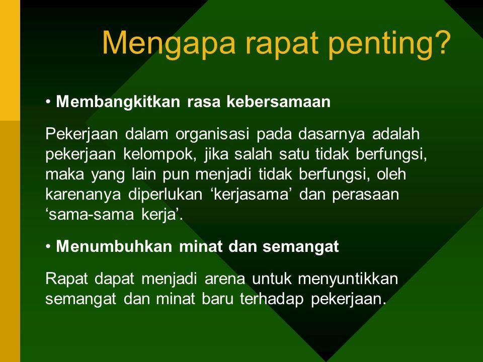 Tipe Peserta Rapat 4.Tipe sang komentar (kodok).