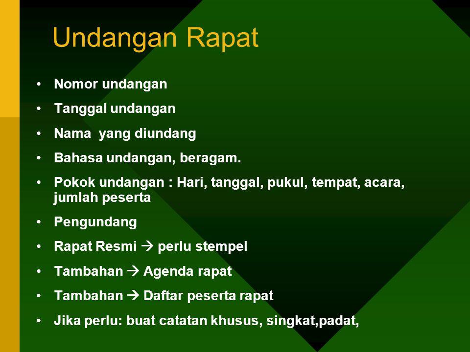 Tipe Peserta Rapat 8.Tipe si superior (jerapah).