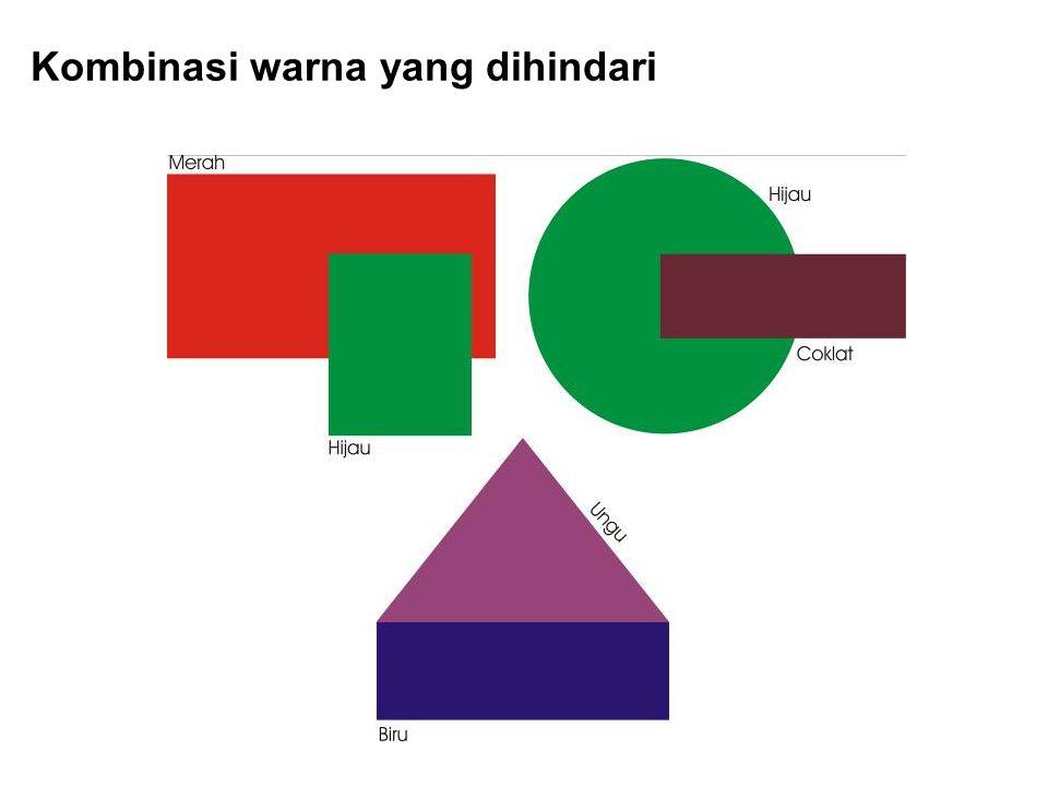 Kombinasi warna yang dihindari