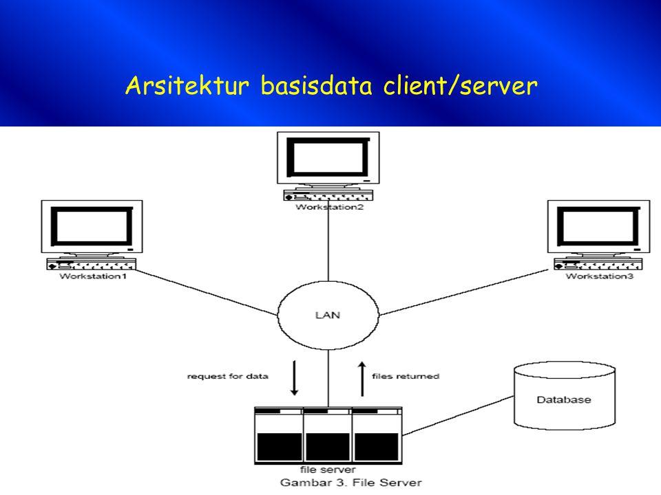 Arsitektur basisdata client/server
