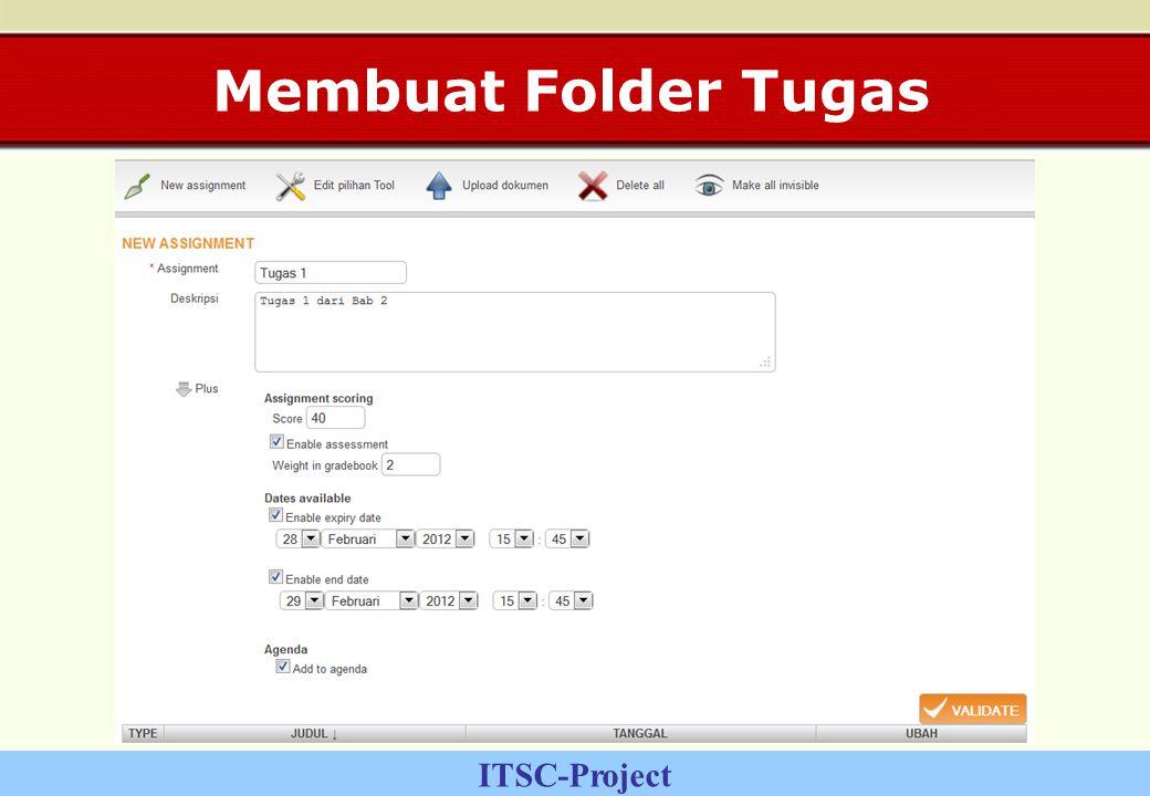 ITSC-Project Membuat Folder Tugas