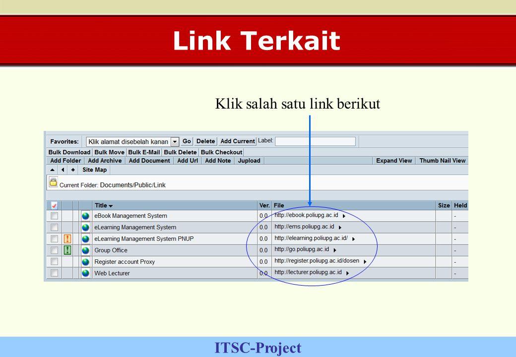 ITSC-Project Link Terkait Klik salah satu link berikut