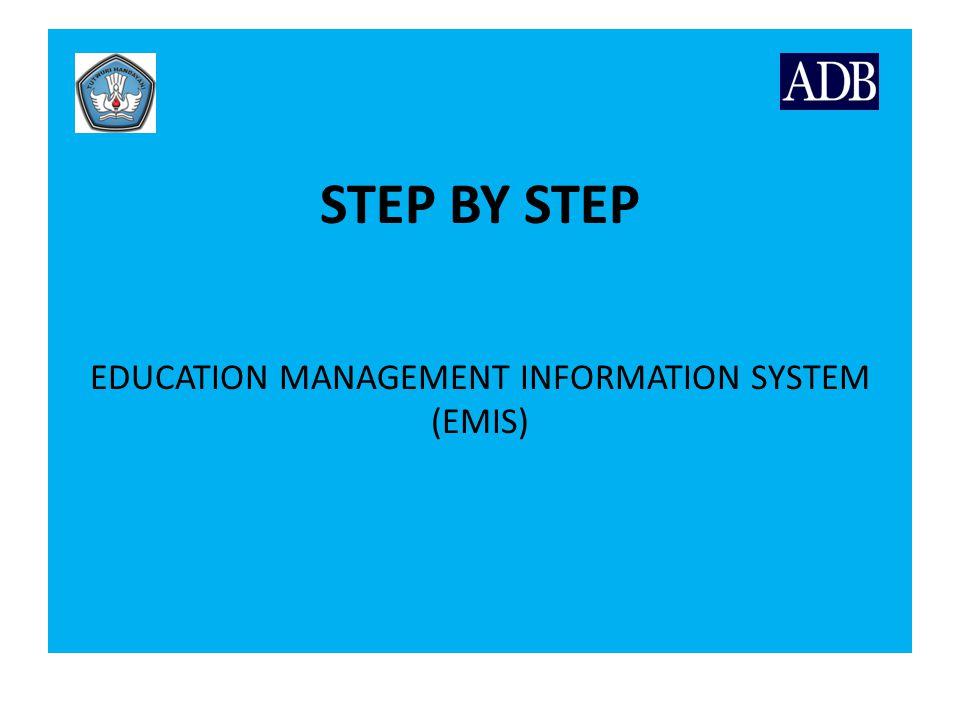 Langkah urutan menjalankan aplikasi EMIS Inisialisasi Tahun Ajaran I.