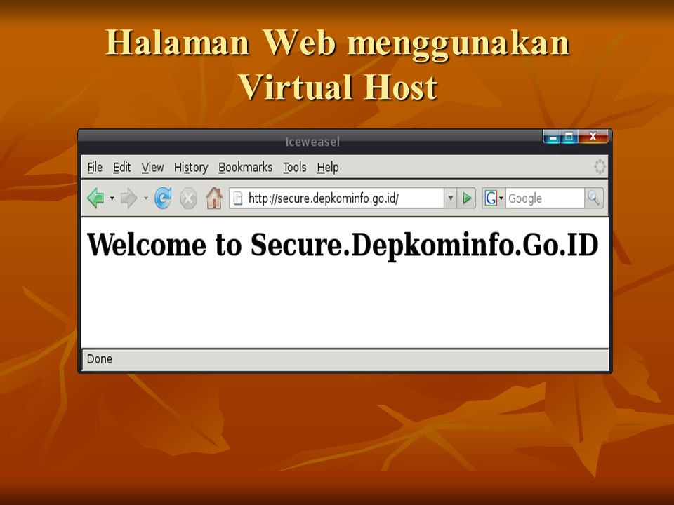 Halaman Web menggunakan Virtual Host