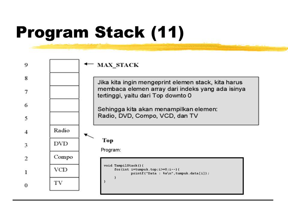Program Stack (11)