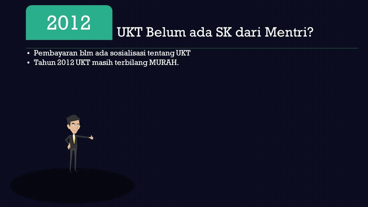 UKT Belum ada SK dari Mentri.