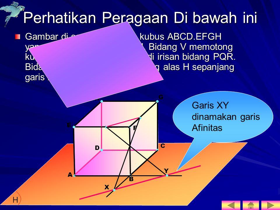 Perhatikan Peragaan Di bawah ini Gambar di samping adalah kubus ABCD.EFGH yang alasnya pada bidang H.