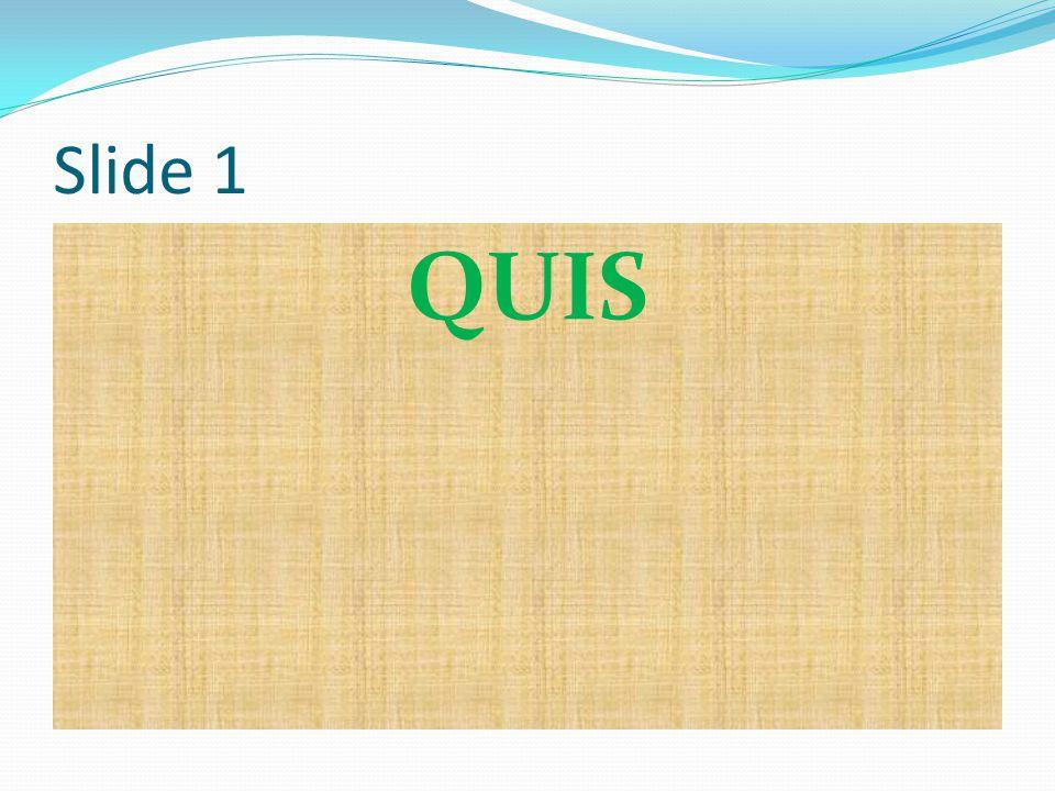 Slide 1 QUIS