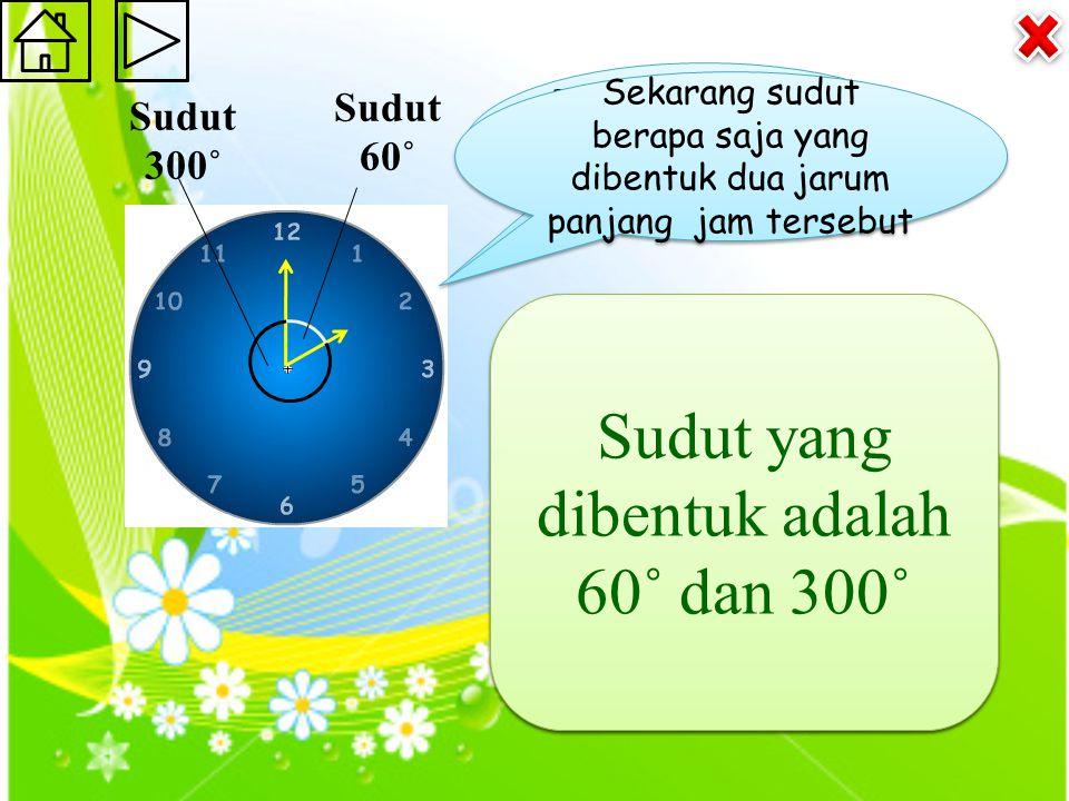 Pukul berapa yang ditunjukkan pada jam tersebut.