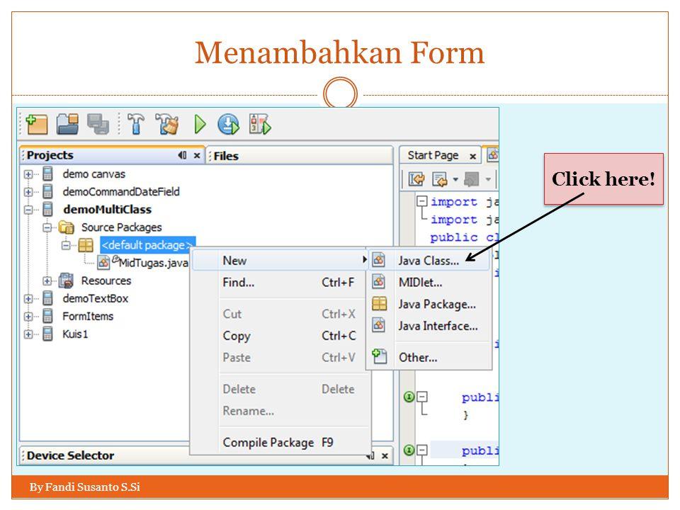 Mengaktifkan tombol Login By Fandi Susanto S.Si Agar Command cmdLogin dieksekusi waktu kita menekan tombol action kita perlu menambahkan: Dan jangan lupa, agar Command pada item dapat dijalankan, kita perlu menambahkan: