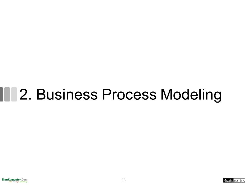 2. Business Process Modeling 36