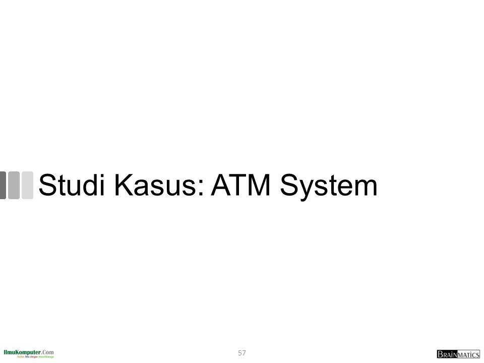 Studi Kasus: ATM System 57